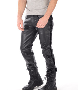 Pantalon Cuir Lacets Homme Last Rebels