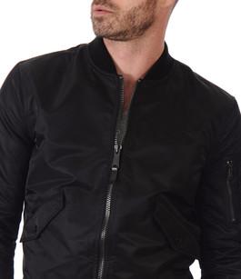 Noir Canadienne Textile Homme La Blouson Schott Bomber 5xqpawHI