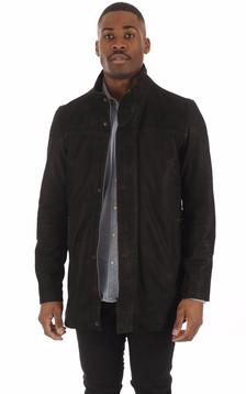 Sur-veste Cuir Vachette Noir1