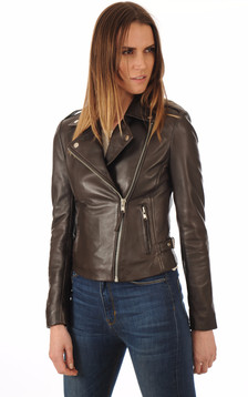 Blouson City Girl Marron1