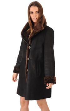 Manteau en merinos patiné