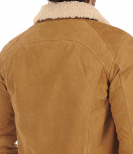 Blouson Styliste Nubuck Camel Serge Pariente