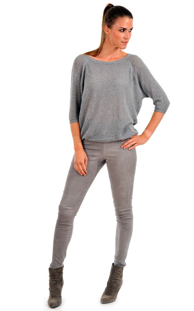 legging cuir stretch femme lou andrea la canadienne pantalon short cuir gris. Black Bedroom Furniture Sets. Home Design Ideas