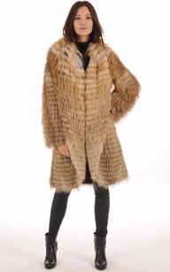 Manteau en Renard Roux Femme