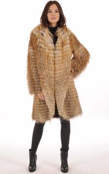 Manteau en Renard Roux