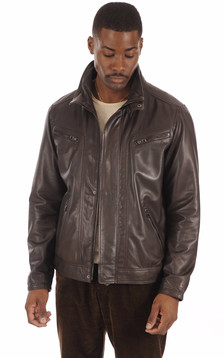 Blouson Confortable Marron1
