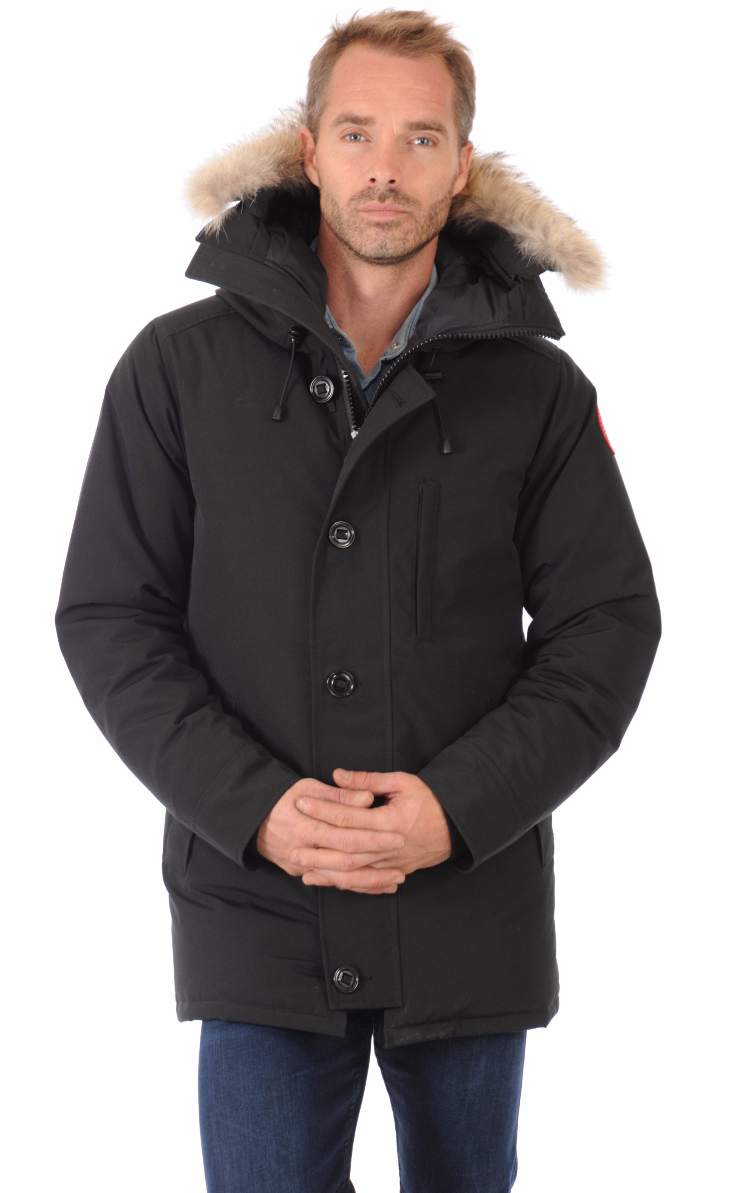 parka the chateau black canada goose la canadienne doudoune parka textile noir. Black Bedroom Furniture Sets. Home Design Ideas
