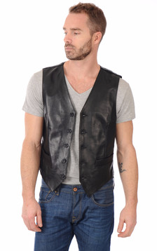gilet cuir homme trapper serge pariente bugatti gilets. Black Bedroom Furniture Sets. Home Design Ideas