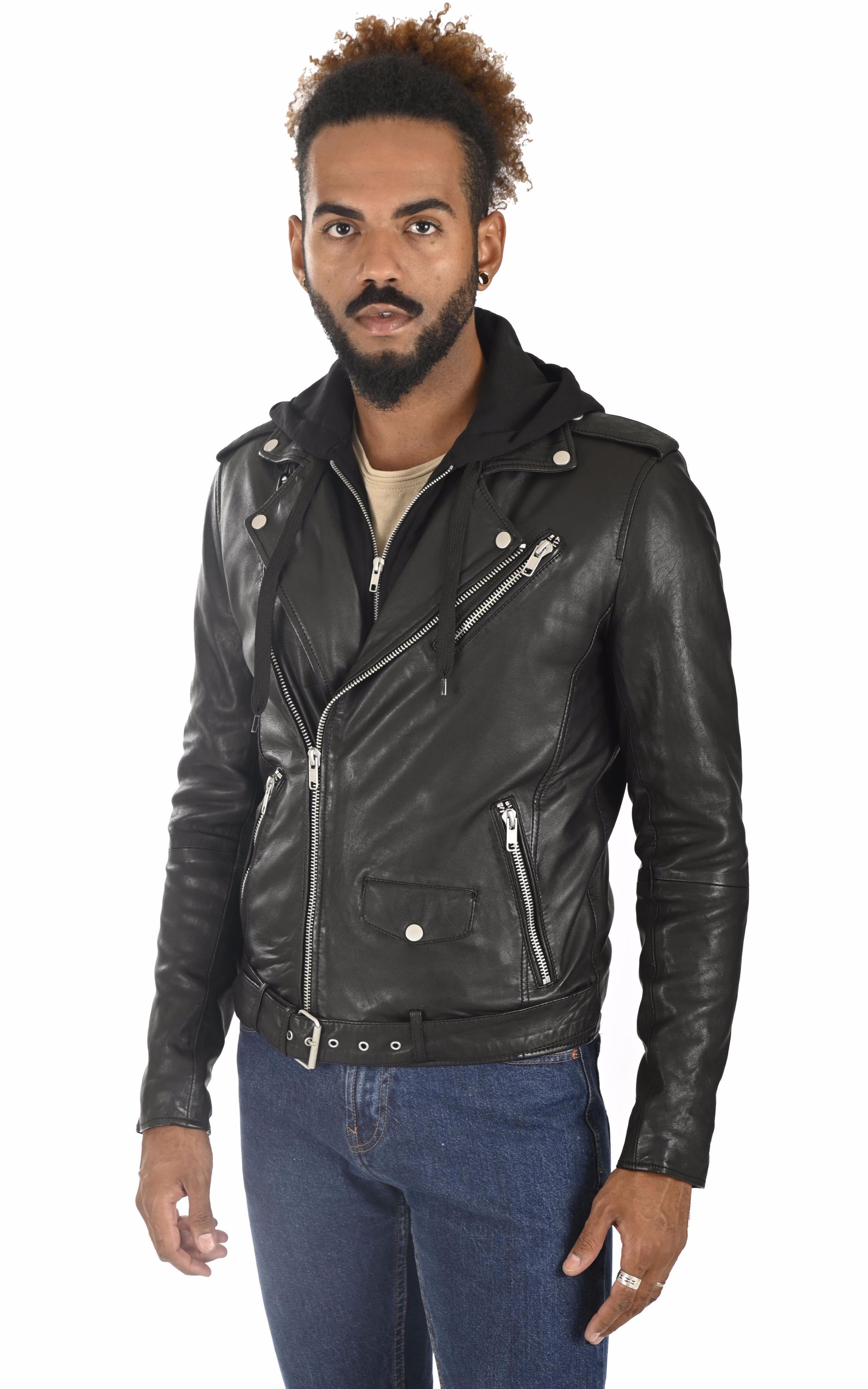 Blouson Rocker Hood noir Serge Pariente