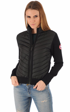 Gilet Hybridge Knit noir1
