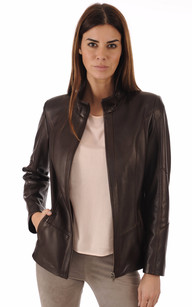 La La La Veste Oakwood Oakwood Oakwood Femme Cuir Giorgio Canadienne Garden Rose PP8qvnx