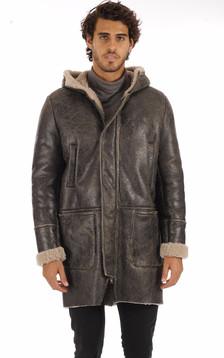 Manteau peau lainée vieillie1