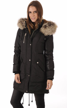 Parka Chelsea Black-Gold1