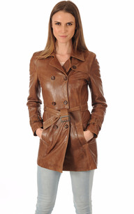 Trench Cuir Femme Bison1