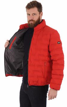 Doudoune courte Rostok rouge