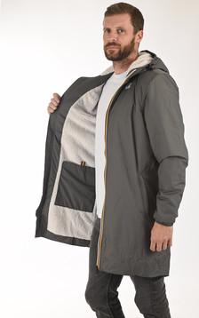 Coupe-vent Orsetto long fourré polaire gris