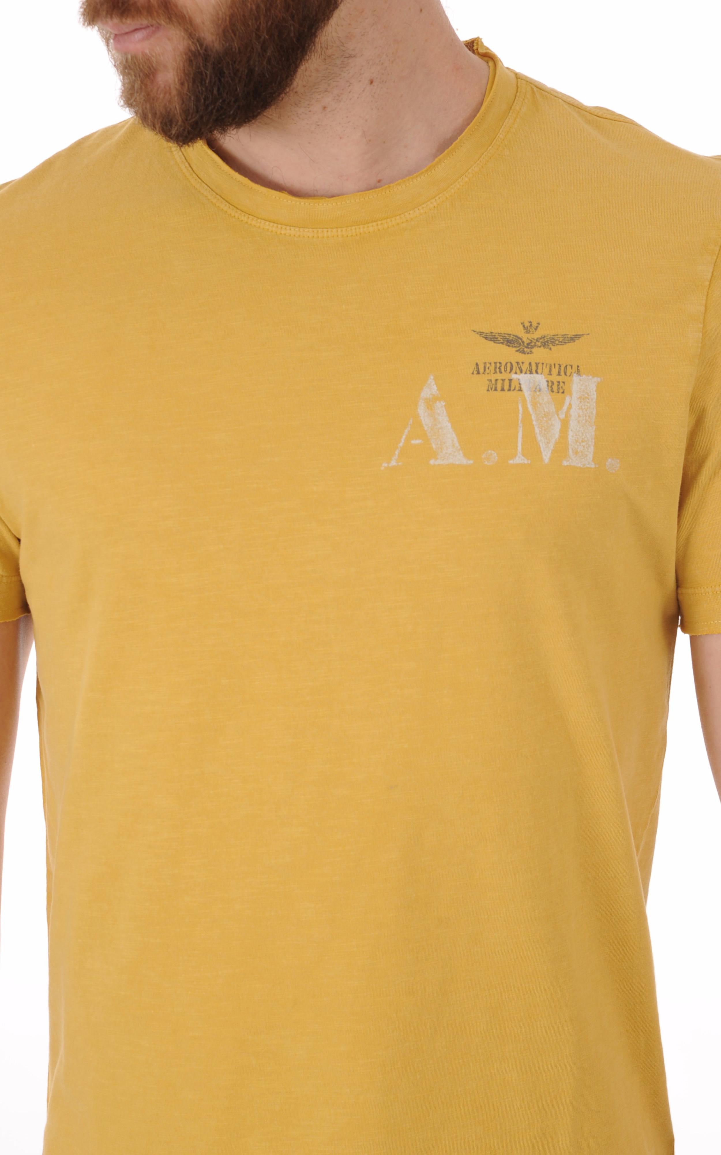 T-shirt Jaune Moutarde A.M Aeronautica Militare