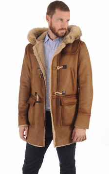 Duffle-Coat en Mouton Patiné1