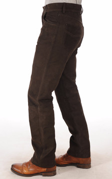 Pantalon Buffle Nubuck Marron