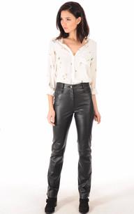 Pantalon Cuir Femme Coupe Droite