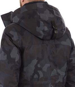 Doudoune Martin bleu camouflage Nobis