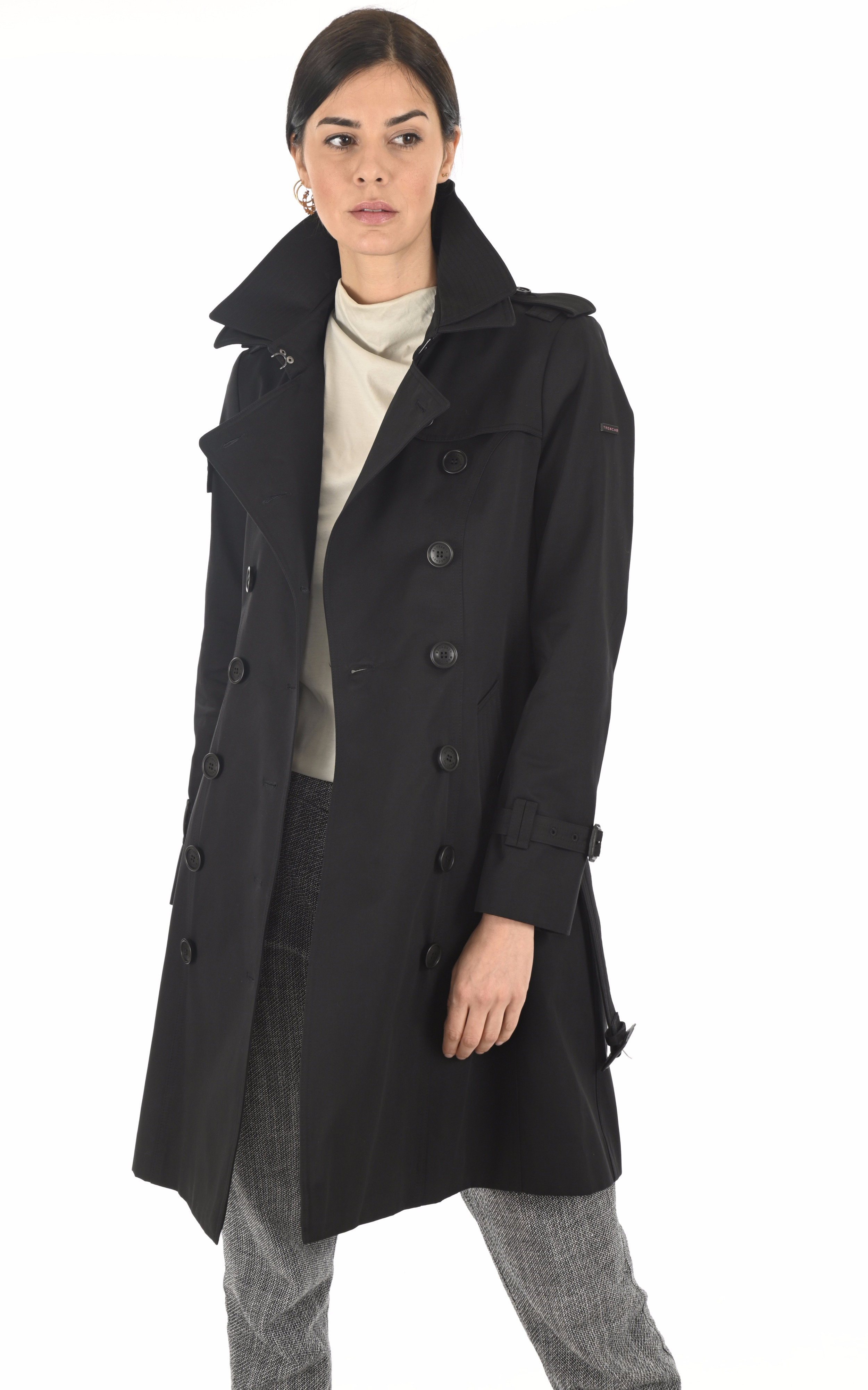 Trench The Queen noir Trench London