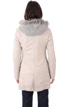 Duffle Coat Cuir Chaud Femme