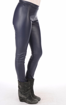 Legging agneau stretch bleu