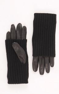 Gants Cuir et Laine Noirs1