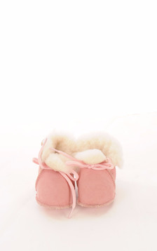 Chaussons Bébé Mouton Rose