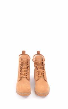 Boots Cuir Fourrées Mouton Camel Femme1