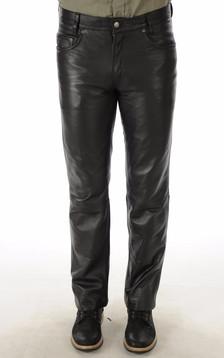 Pantalon Cuir Noir Homme1