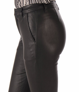 Pantalon Agneau Stretch Noir La Canadienne