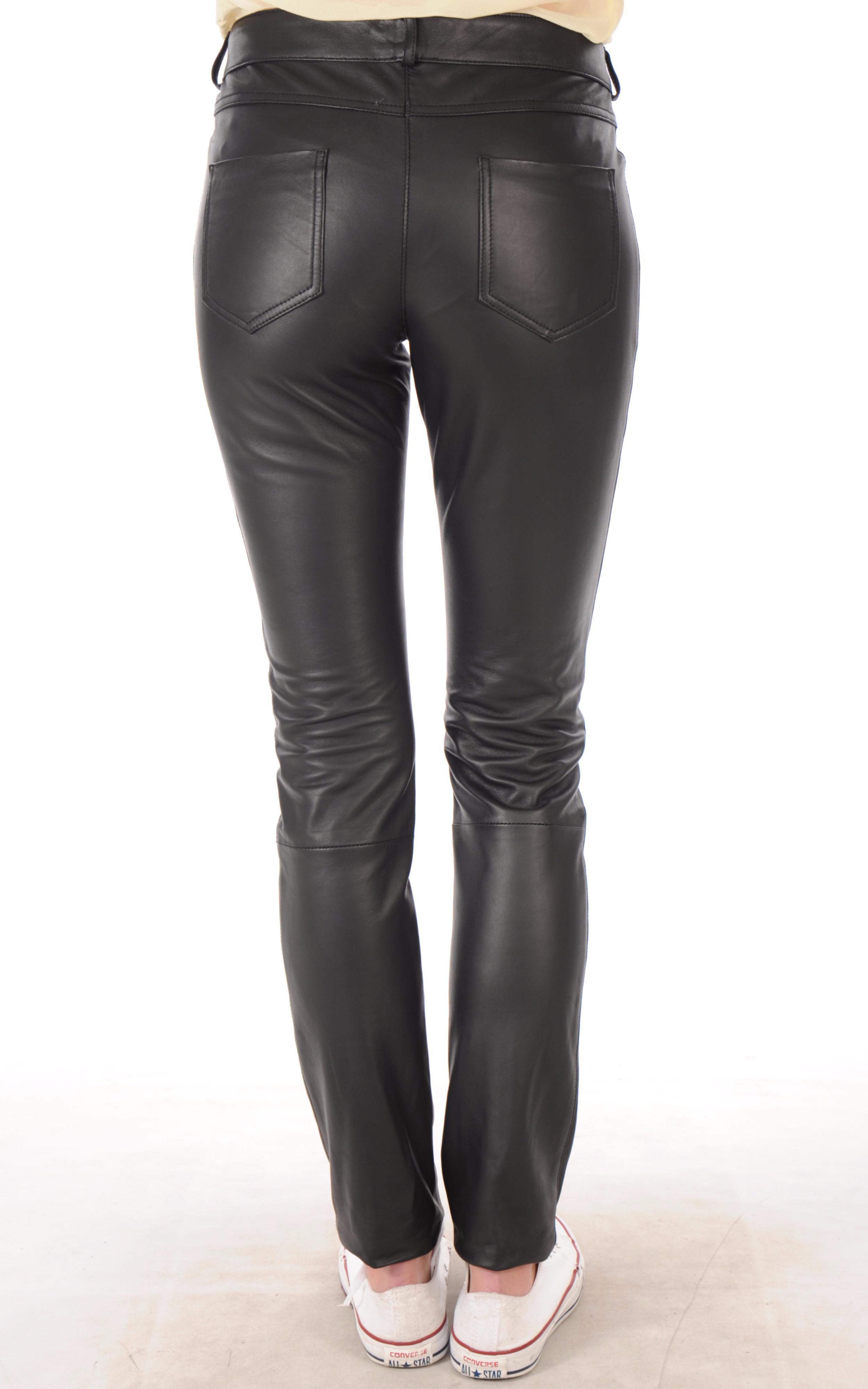 pantalon cuir femme coupe slim la canadienne la canadienne pantalon short cuir noir. Black Bedroom Furniture Sets. Home Design Ideas