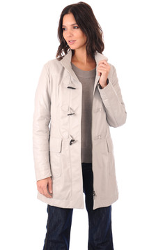 Duffle Coat Cuir Chaud Femme1