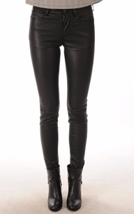 Pantalon Cuir Stretch Noir1