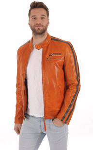 Blouson Motard Cardiff Orange