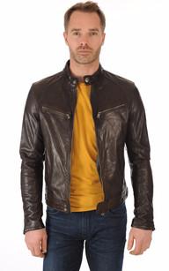 Belle veste homme en daim marron