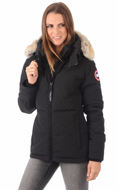 parka chelsea black canada goose la canadienne doudoune parka textile noir. Black Bedroom Furniture Sets. Home Design Ideas