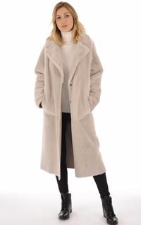 Manteau peau lainée mérinos réversible