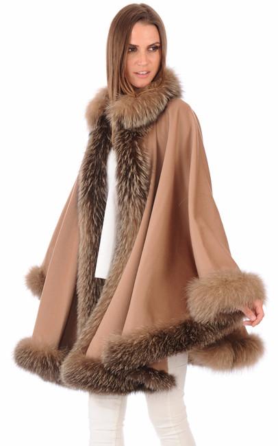 cape laine renard anpel la canadienne gilet poncho cape textile chamois. Black Bedroom Furniture Sets. Home Design Ideas