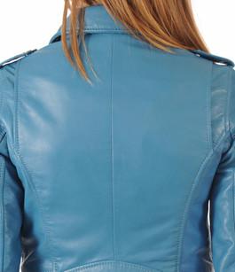 Blouson Perf Femme Bleu Canard Oakwood