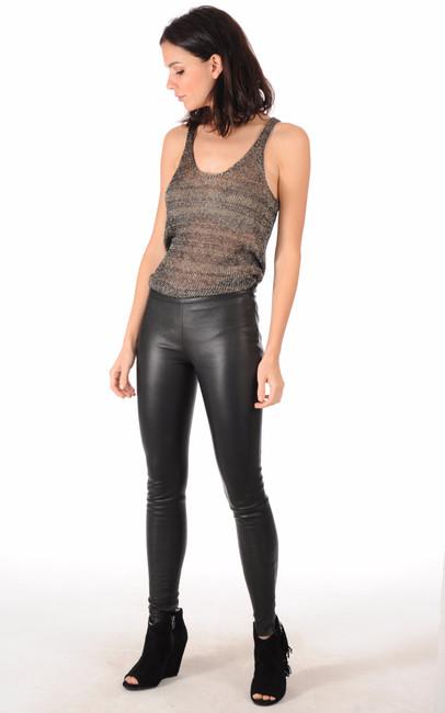legging cuir agneau noir mackage la canadienne pantalon short cuir noir. Black Bedroom Furniture Sets. Home Design Ideas