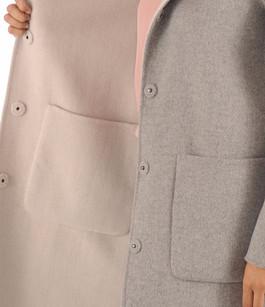 Manteau réversible Laine et Fourrure Oakwood