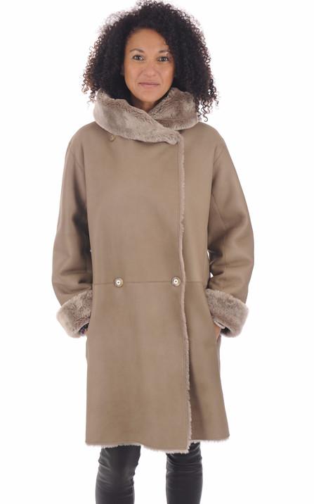 grand choix de 56366 cfa4e 7/8 & Manteau Peau lainée pour femme - La Canadienne, Rossi ...