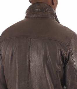 Veste Confortable Cuir Homme Donders