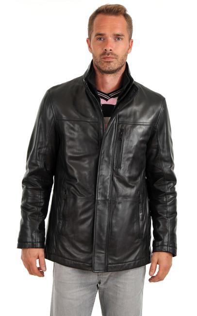veste cuir homme pierre cardin la canadienne veste 3. Black Bedroom Furniture Sets. Home Design Ideas