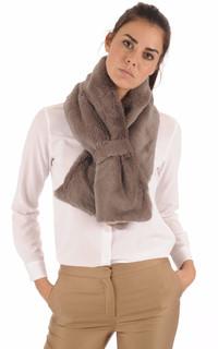les ventes en gros bas prix modèle unique Echarpe Laine et Lapin Beige Lea Clement - La Canadienne - Etole, Echarpe  Textile Taupe
