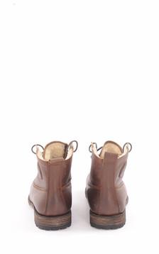 Boots Cuir Marron Foncé Fourrées Mouton
