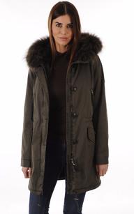 Manteau femme kaki